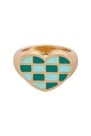 8 Other Reasons Women Rings - Checkered Heart Ring. Size 6, 7, 8.