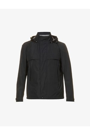HUGO BOSS Men Rain Jackets - Logo-print hooded shell jacket