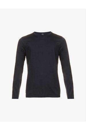 HUGO BOSS Slim-fit crewneck long-sleeved cotton-jersey T-shirt