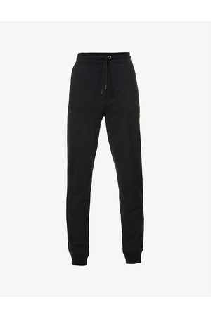 HUGO BOSS Brand-print cotton and recycled polyester-blend jogging bottoms