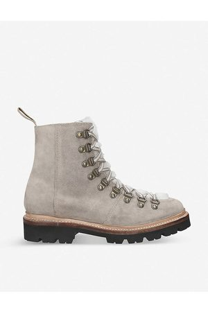 GRENSON Nanette suede hiking boots