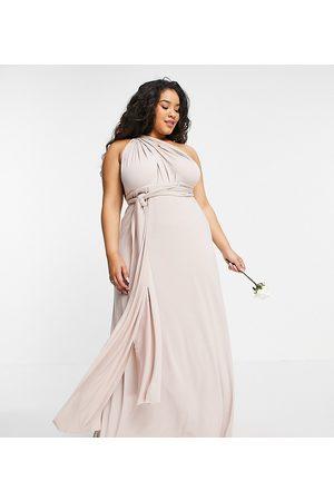 TFNC Plus Bridesmaid multiway maxi dress in