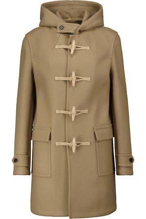 Saint Laurent Women Duffle Coats - Hooded wool duffle coat