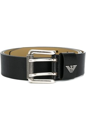 Emporio Armani Men Belts - Logo plaque buckle belt