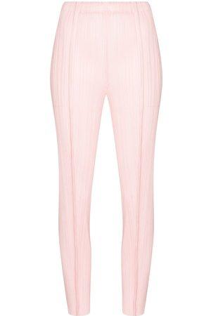 PLEATS PLEASE ISSEY MIYAKE Women Skinny Trousers - August slim tapered trousers