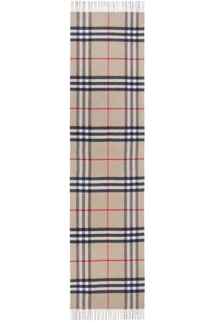 Burberry Scarves - Reversible Check Cashmere Scarf - Neutrals