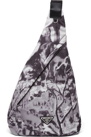 Prada Men Rucksacks - Re-Nylon abstract-print shoulder bag