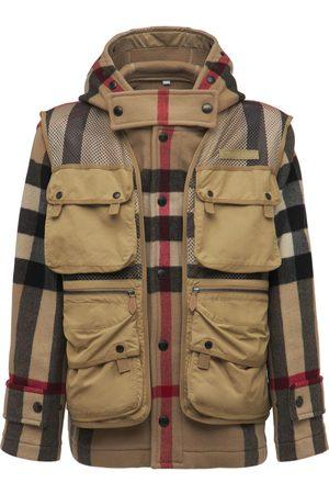 BURBERRY Fairfield Check Wool & Nylon Jacket