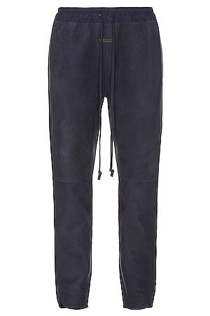 FEAR OF GOD Suede Track Pant in Navy