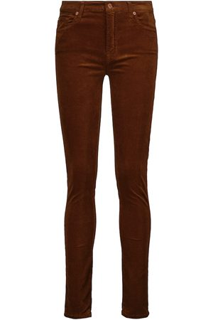 7 For All Mankind High-waist skinny cotton-blend pants