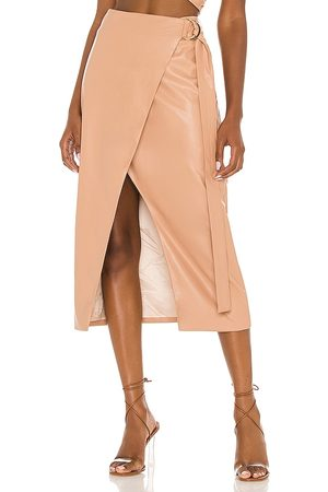 AMUR Faux Leather Wrap Skirt in . Size 2, 4, 6, 8.