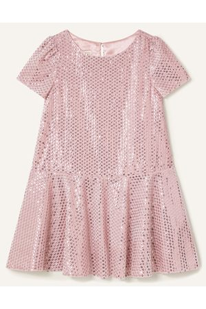 Monsoon Girls Dresses - Sequin Velour Dress , Embellished, in Size: 10 Years