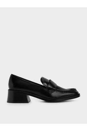 CHARLES & KEITH Block Heel Penny Loafers