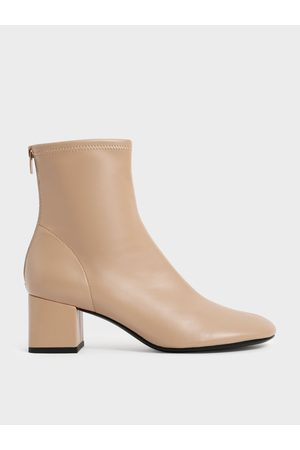 CHARLES & KEITH Block Heel Ankle Boots