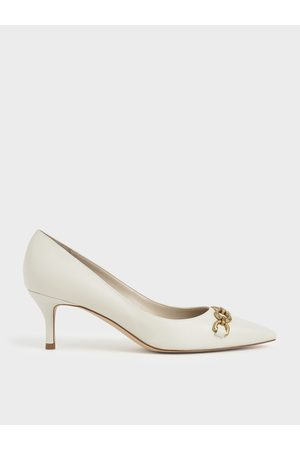 CHARLES & KEITH Chain Link Pointed Toe Pumps