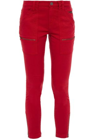 JOIE Women Skinny Trousers - Woman Park Moto-style Cropped Cotton-blend Twill Skinny Pants Size 23