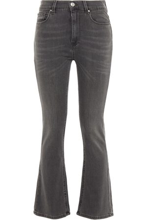 IRO Women Bootcut - Woman High-rise Kick-flare Jeans Dark Gray Size 24