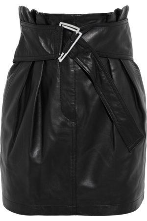 IRO Woman Humami Belted Leather Mini Skirt Size 34