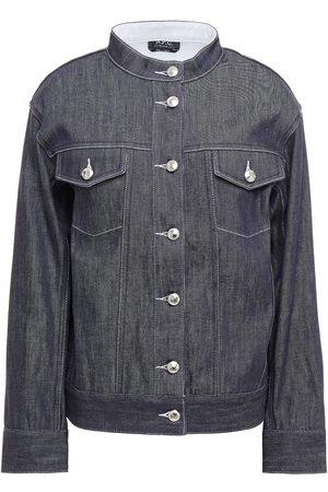 A.P.C. Woman Denim Jacket Dark Denim Size 34