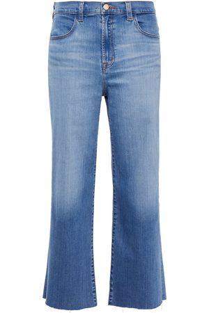 J BRAND Woman Cropped High-rise Straight-leg Jeans Mid Denim Size 24