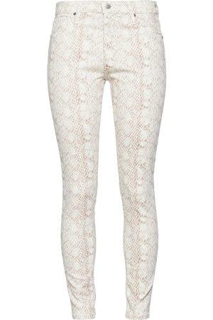 AG JEANS Woman Snake-print Mid-rise Skinny Pants Animal Print Size 23
