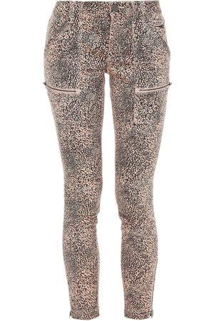 JOIE Woman Park Moto-style Cropped Leopard-print Cotton-blend Twill Skinny Pants Blush Size 23