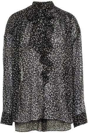 JOIE Woman Maiza Pussy-bow Leopard-print Fil Coupé Chiffon Blouse Size L