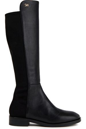 STUART WEITZMAN Woman Keelan Leather And Neoprene Knee Boots Size 34