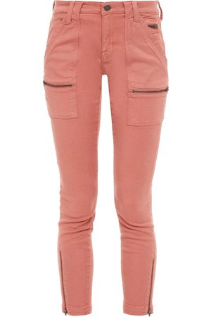 JOIE Woman Park Moto-style Cropped Cotton-blend Twill Skinny Pants Antique Rose Size 23