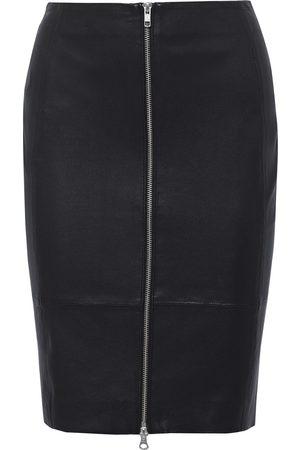 MUUBAA Woman Clara Zip-detailed Leather Pencil Skirt Size 10