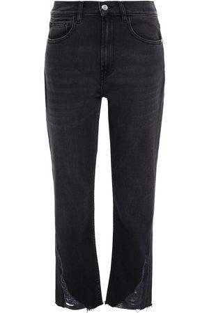 IRO Woman Hypno Cropped Distressed Mid-rise Slim-leg Jeans Size 24