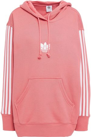 ADIDAS ORIGINALS Woman Oversized Embroidered French Cotton-terry Hoodie Size 30