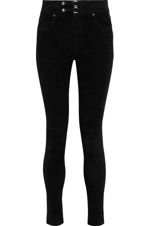 IRO Woman Simer Buckle-detailed Suede Skinny Pants Size 34