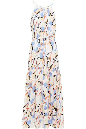 JOIE Woman Huston Tiered Printed Burnout Cotton And Silk-blend Maxi Dress Size L