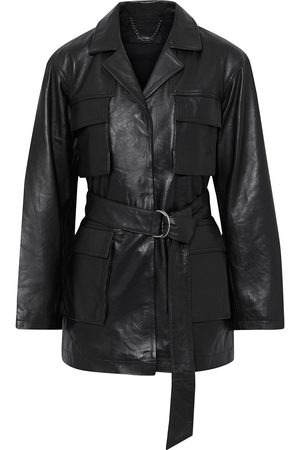 MUUBAA Woman Chloe Belted Leather Jacket Size 10