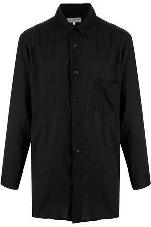 Yohji Yamamoto Collar-detail oversize long-sleeve shirt