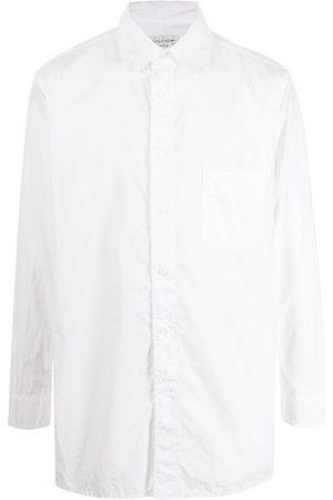 Yohji Yamamoto Men Long sleeves - Crease-effect oversize long-sleeve shirt