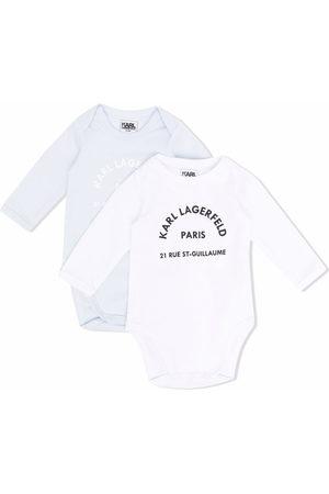 Karl Lagerfeld Logo print babygrow set