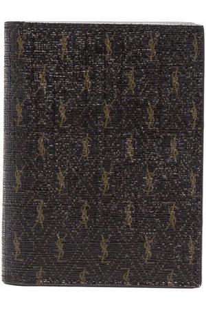 Saint Laurent Monogram print leather wallet