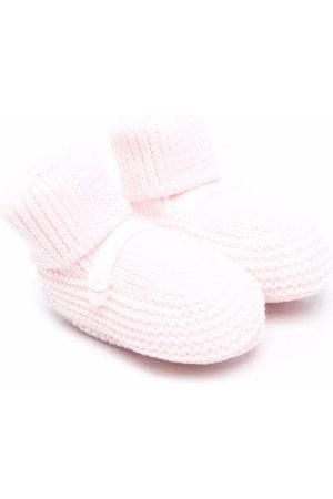 Little Bear Button-detail knitted socks