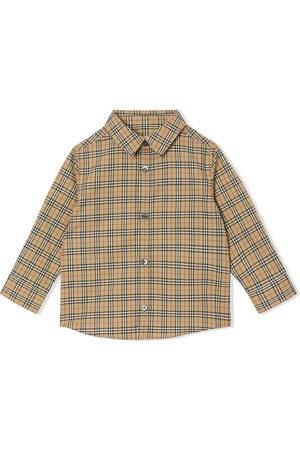 Burberry Check-print long-sleeve shirt