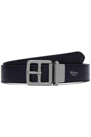 MULBERRY Men's 30mm Reversible Boho Buckle - Midnight-Tan - Size 32