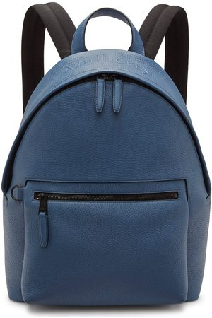 MULBERRY Men's Zipped Backpack - Pale Navy