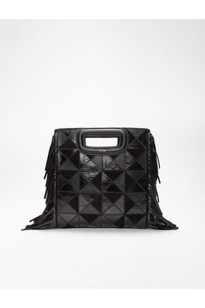 Maje Leather And Suede Patchwork M Bag