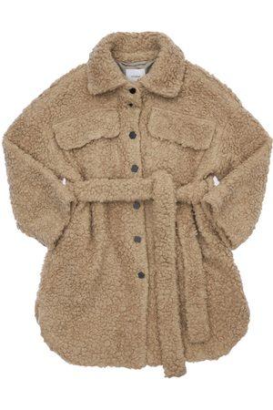 Unlabel Girls Coats - Teddy Coat W/ Belt
