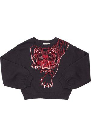KENZO KIDS Tiger Cotton & Cashmere Knit Sweater