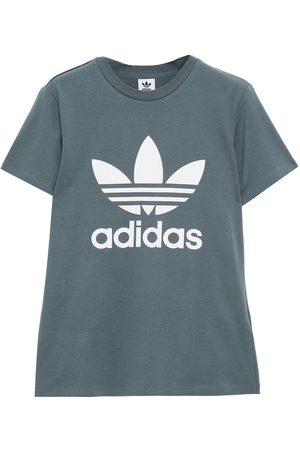 adidas Women T-shirts - Woman Printed Cotton-jersey T-shirt Size 32