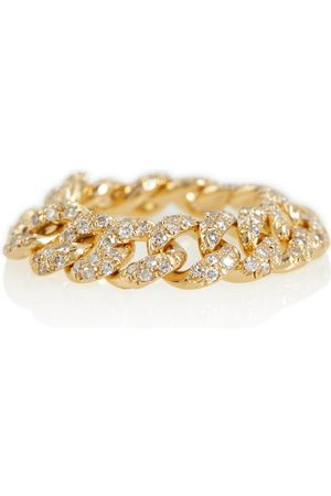 SHAY Jewelry 18kt chain ring with diamonds