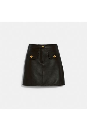 Coach Leather Skirt in - Size 02