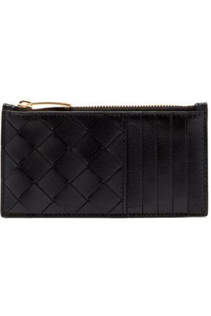 Bottega Veneta Zipped Intrecciato-leather Cardholder - Womens